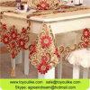 A flor Handmade do Cutwork de Toyoulike Champagne bordou o organdi que janta o jogo da tampa da cadeira do Tablecloth