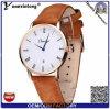 Reloj genuino de la correa de cuero de Dw del Mens Yxl-306 del estilo de los relojes de la fecha del calendario de Fshion de los hombres del asunto promocional simple del reloj