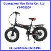 Batterie cachée par neige pliant le vélo d'E avec le gros pneu