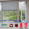 A cor branca UPVC balanç para fora e vidro com cortinas Windows