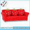 Sofa de maison de sofa de tissu de fraise de trois sièges (SXBB-281-4)