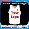 La compressione su ordinazione supera la maglietta giro collo di Topstri del Triathlon
