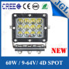 IP67 Waterproof 60W LED Auto Work Light Excavator Truck Tractor