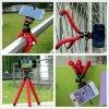 Sostenedor flexible del teléfono del coche de Monopod del montaje del soporte de Selfie del soporte del trípode del pulpo