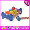 Brinquedo de madeira do banco do martelo do cabrito de 2015 DIY, brinquedo de luxe do banco do martelamento do Peg do martelo das crianças, brinquedo de batida de madeira seguro original W11g019 do banco