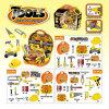 Butike-Schauspielhaus-Plastikspielzeug für Juniorerbauer-Hilfsmittel-Set