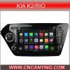 KIA K2 2011-2012年/リオ2011-2012年のための人間の特徴をもつCar DVD Player。 (AD-8044)