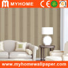 Papel de parede do PVC Deep Embossed para Stripe Decorative