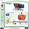 Chariot en plastique de chariot à achats de main de supermarché en gros