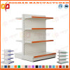 La vendita ha personalizzato la doppia scaffalatura parteggiata d'acciaio del supermercato della visualizzazione (Zhs507)