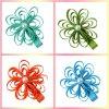 I capelli del bambino piegano gli accessori Handmade di Hairbows Headwear del bello boutique del fiore del nastro del Grosgrain delle clip di capelli del fiore del ciclo