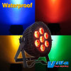 Luzes ao ar livre impermeáveis da PARIDADE do diodo emissor de luz de IP65 7*15W RGBWA 5in1