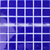 mozaïek van de Pool Simming van 48X48mm het Donkerblauwe Ritselen Verglaasde (BCK664)