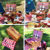 Umweltfreundlicher rechteckiger gedämpfter Weide-Picknick-Korb