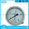 100mm tout l'acier inoxydable avec l'indicateur de pression inférieur de connexion de bride