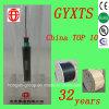 Gyxts 6のコア単一モードの屋外の中央管の鋼線の装甲光ケーブル
