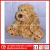Brinquedo do urso da peluche do luxuoso de Brown para o presente do bebê