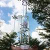 Rosafarbene Blumen-rauchendes Wasser-Glasrohr der Rocket-Form-eine (ES-GB-609)