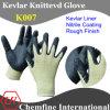 Кевлар трикотажные перчатки с нитрил покрытием ладони