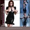 Горячая Мода Женская одежда Эротическое белье Кожа Bodycon платье (TGP830)
