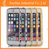 Selling caliente Diamond Embossed National Wind Pattern China Ceramic Design Metal Bumper Frame Caso para el iPhone 6