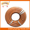 Tuyau de jardinage flexible de PVC d'orange