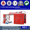 8+0 Printed 8 Color Flexo Printing Machine 뒤와 Front
