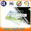 Clé de mémoire USB à la mode de lecteur flash USB par la carte de crédit transparent