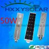 Alumbrado público solar integrado impermeable 50W de IP65 LED