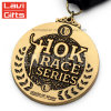 3D Druckguss-Zoll gedenken antike Marathon-Laufring-Spiel-Preis-Medaille des Goldandenken-Metallsport-5K 10K mit Farbband