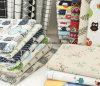 복장 커튼 테이블 고정되는 소파를 위한 100%Linen 직물 인쇄
