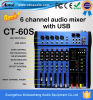 Mezclador de DJ de los canales del profesional CT-60s 6
