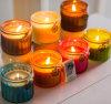 Kühler Entwurfs-natürliches Sojabohnenöl-Wachs oder Paraffinwachs-angestrichene Glasglas-duftende Kerze mit hölzerner Kappe für Hauptdekoration