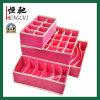 4PCS 비 길쌈된 접히는 내복 저장 상자 조직자
