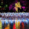 Flor artificial al aire libre de la luz de la Navidad de la decoración de la bola del LED LED