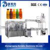 Pequeña máquina que capsula de relleno de enjuague automática rotatoria en botella del zumo de fruta