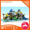 Familia de diapositiva del patio del parque del agua de la fibra de vidrio de la niñez