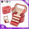 Роскошная Handmade изготовленный на заказ упаковывая коробка ювелирных изделий кожаный с зеркалом