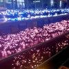 Da luz clara de borracha branca da corda do diodo emissor de luz da corda de China 20m luzes feericamente