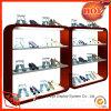 Kundenspezifischer Speicher-hölzerner Schuh-Ausstellungsstand/Kleinschuh-Zahnstangen-Bildschirmanzeige