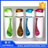 botella de agua plástica de la pared doble colorida 500ml con el botón