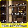 Customed classe la crémaillère d'étalage de bouteille de vin d'acier inoxydable pour la barre