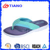Flip-flop ocasionales cómodos de la playa de señora EVA con la esponja de la memoria (TNK20190)
