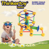 Vintage do ABS DIY Montessori que constrói o brinquedo creativo