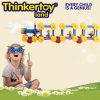 Bloc constitutif de jouets créateurs pour des enfants dans la forme de train