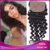 1#深い波のブラジルのバージンの人間の毛髪4*4の絹の閉鎖