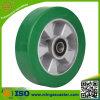 Elastisches Grün PU-Rad für industrielle Fußrolle