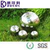 Отполированное зеркало яркости отражает шарик нержавеющей стали отделки полый