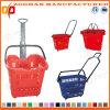 Panier à provisions en plastique des prix bon marché avec les chasses (Zhb25)