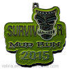 Custom Software Enamel Shape Survivor Mud Run Medal